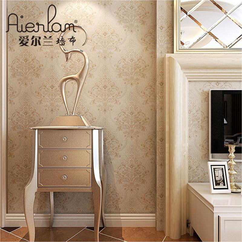 高端欧式无缝墙布客厅大气卧室墙纸雪尼尔金丝线复古壁布厂家批发