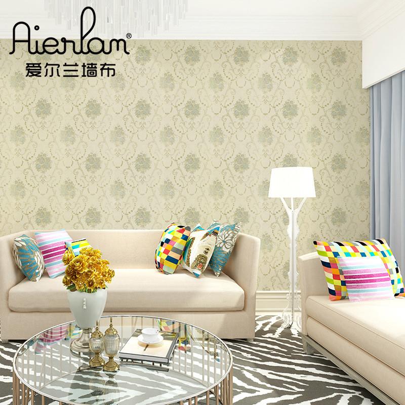 现代中式无缝墙布田园花温馨浪漫花纹墙纸卧室无纺布壁布厂家批发