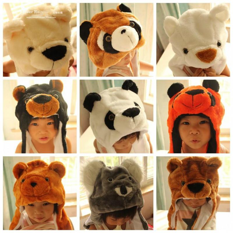 动物帽子头饰套毛绒卡通幼儿园亲子儿童成人表演出道具 狼兔子猪
