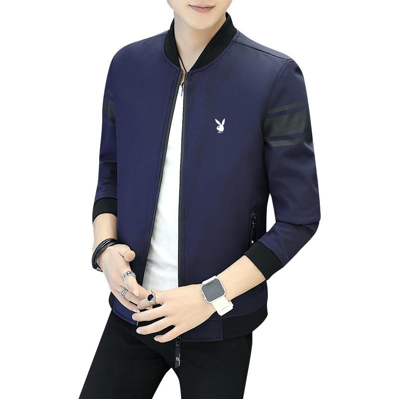 春秋冬季男士外套加绒加厚夹克衣服青年韩版修身帅气百搭男装上衣