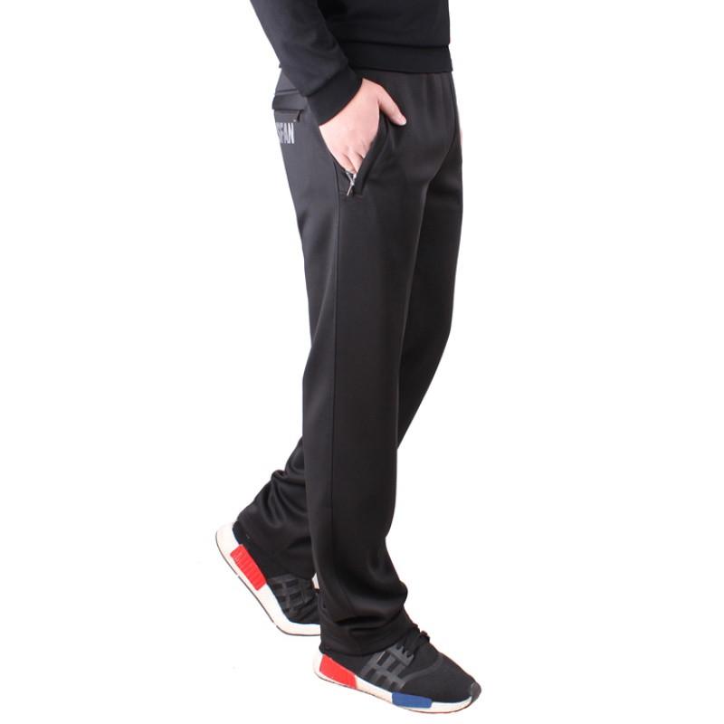天天特價冬季男士大碼寬松運動褲直筒加絨加厚男長褲青年休閑褲圖片