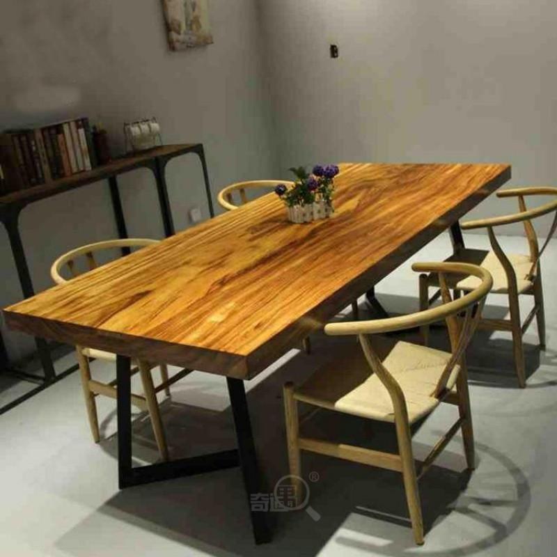 爵尼乌金木老板桌现公家具桌子全实木总裁大班台红木茶桌茶几原木
