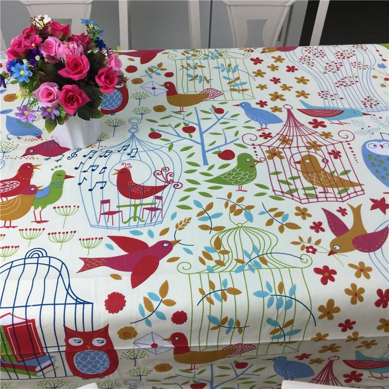 4米宽纯棉加厚帆布料卡通动物粗布床单桌布窗帘沙发图片