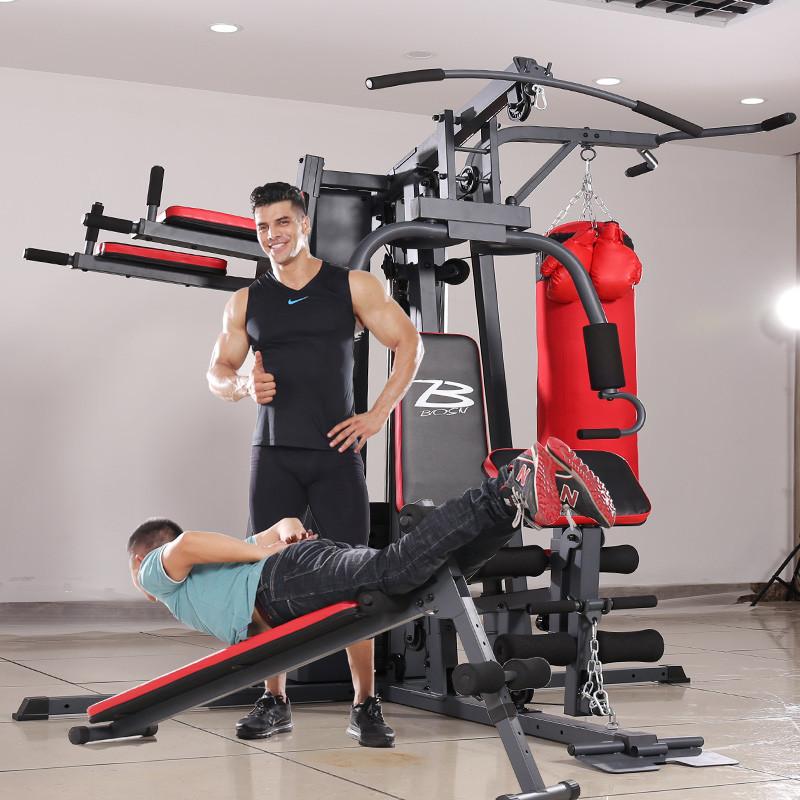 大型健身器材家用多功能综合训练器运动器械套装组合健身房力量型