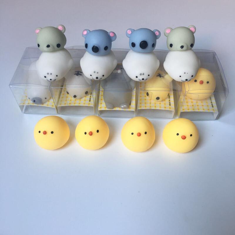 创意可爱小动物捏捏乐解压玩具发泄团子君套装礼品