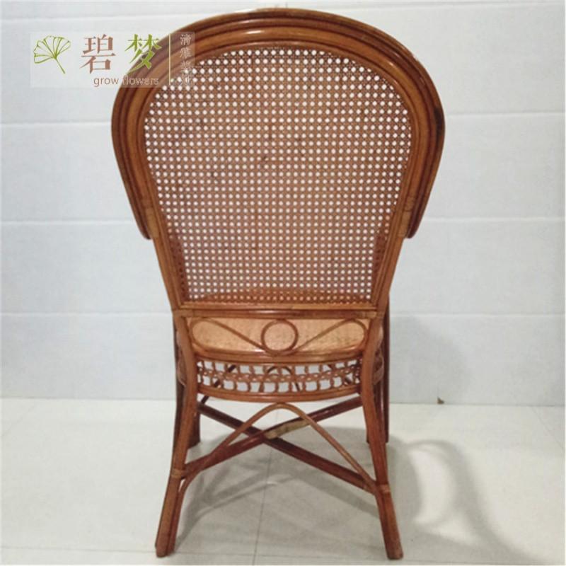 高背藤椅成人新款新古典椅 老人藤椅电脑椅高靠背椅 休闲椅子