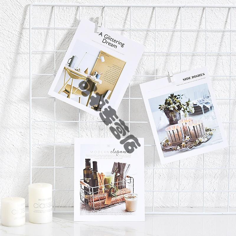 施人订制 北欧chic风简约卡片仿杂志时尚拍摄背景道具