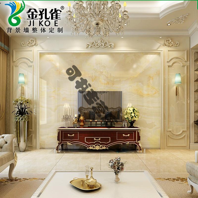 石材电视墙边框简约微晶石影视墙客厅大理石瓷砖背景墙护墙板造型