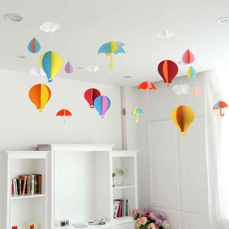 幼儿园走廊吊饰空中吊顶装饰创意棚顶墙面挂饰室内房间天花板挂件