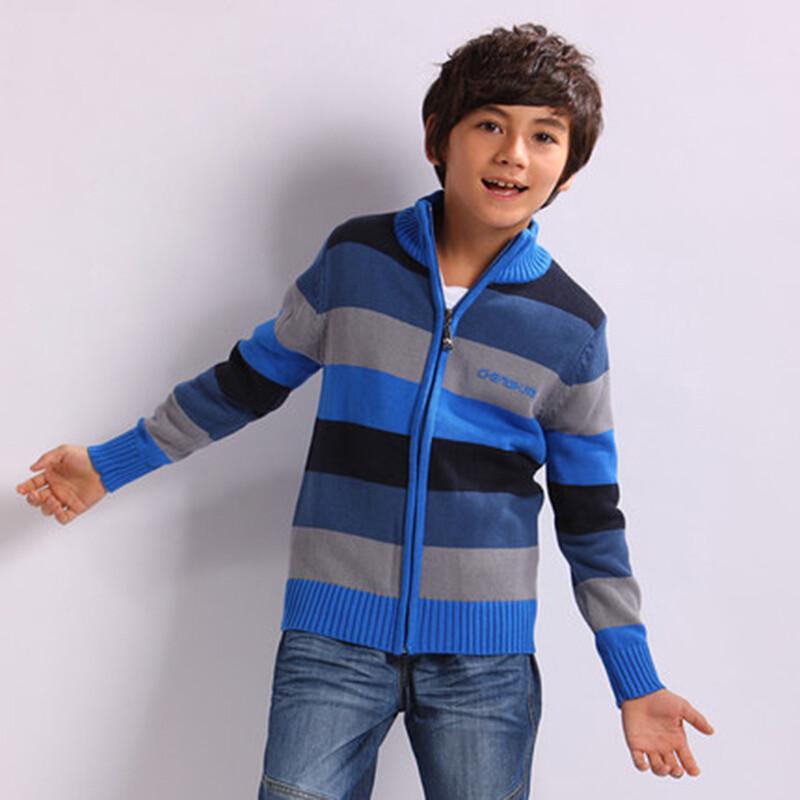 中大儿童针织衫百搭款童装新款男童毛衣宝宝开衫外套