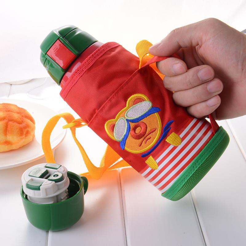 不锈钢儿童保温杯带吸管学生幼儿园男女宝宝防摔水壶杯子