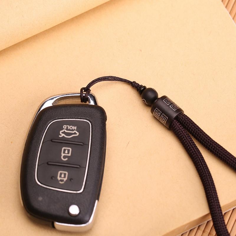 qmnz新款高档创意汽车钥匙挂绳绳子钥匙链男女士手工编织