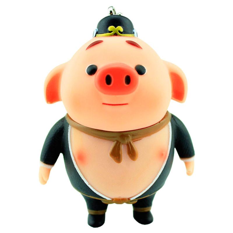 qmnz新款可爱猪八戒钥匙链韩国卡通情侣钥匙扣女士男款汽车钥匙圈包包
