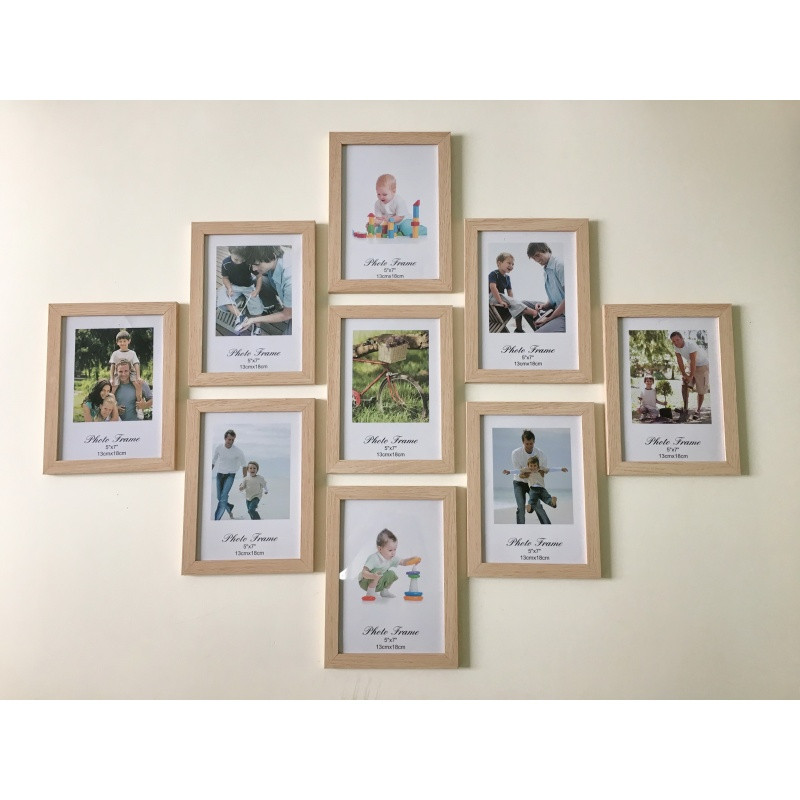 九宫格相框照片墙 7寸相框组合 儿童婚纱影楼礼品 客卧装饰照片图片