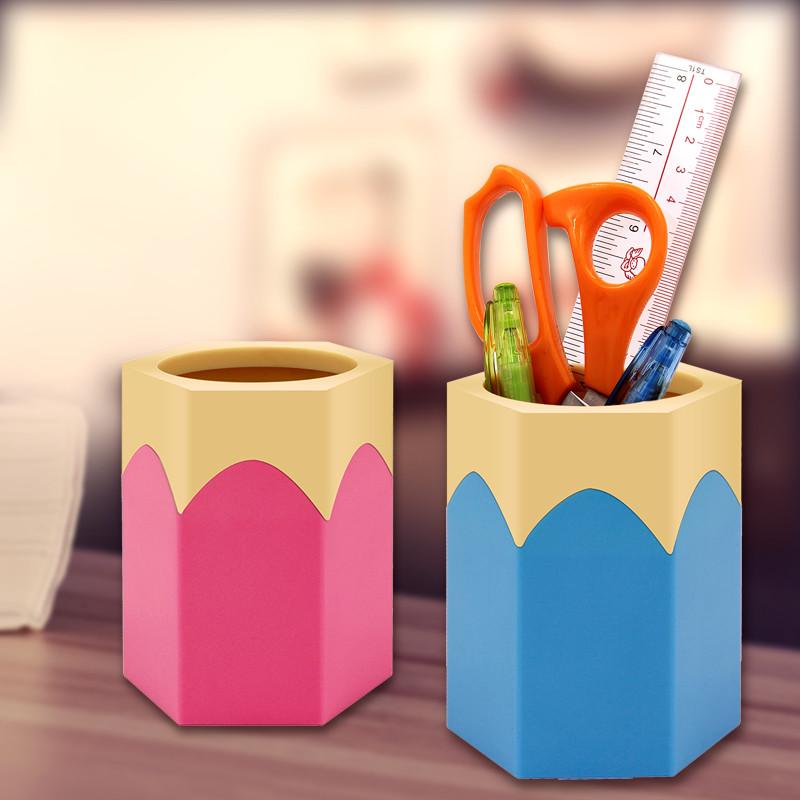 笔筒卡通可爱多功能创意时尚桌面个性办公文具收纳用品摆件