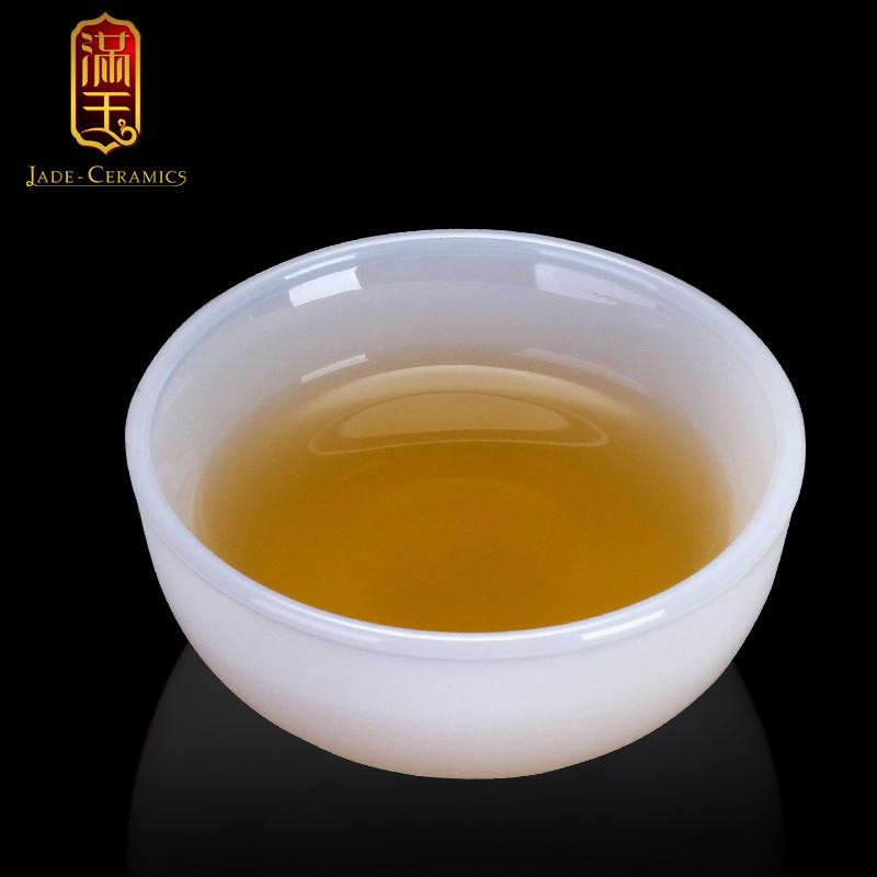 白玉瓷功夫茶具茶杯套装小号家用陶瓷单个人品茗喝茶水杯年货