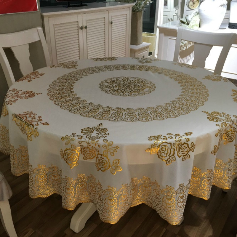 大圆桌布 家用酒店pvc圆台布防烫 防水防油免洗圆形餐桌桌布