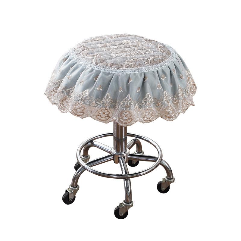 欧式圆形坐垫四季布艺小圆凳子套罩单人圆凳子坐垫圆垫耐用
