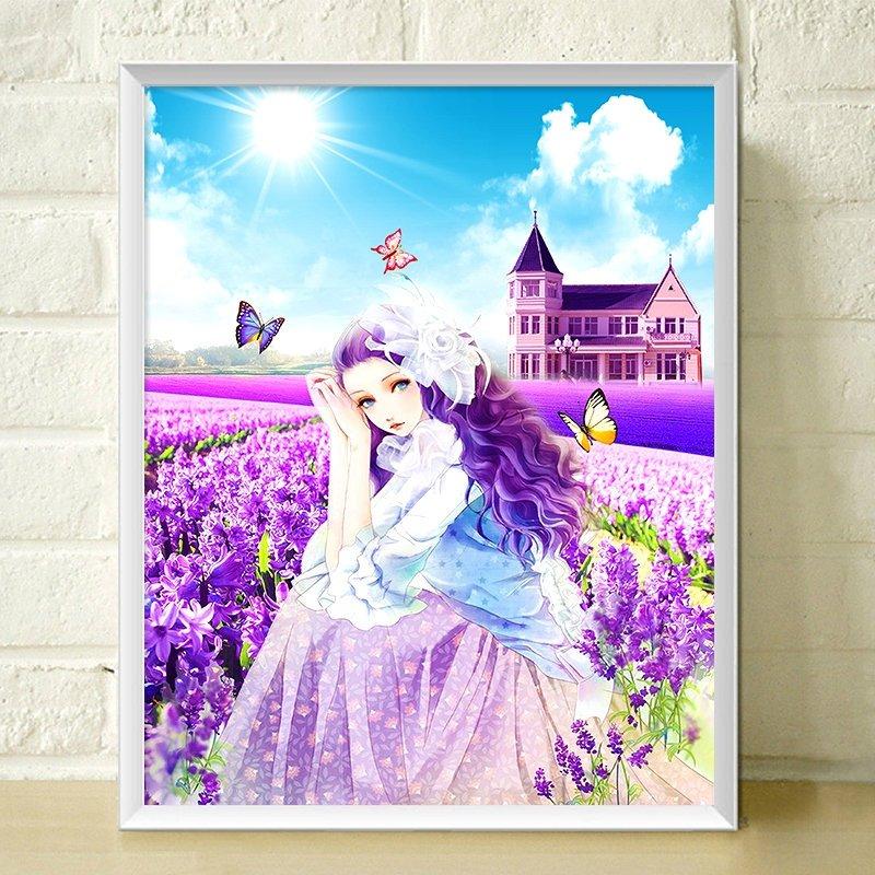 5d钻石画满钻卡通动漫人物儿童卧室可爱公主女孩十字绣钻石绣客厅