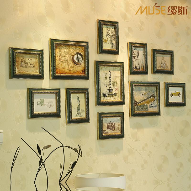 家居饰品 沙发照片墙 欧式环保相框创意组合 复古相片图片