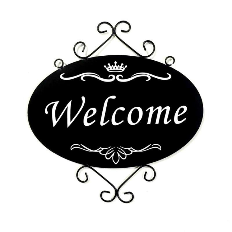 欧式铁艺装饰挂牌店铺营业招牌服装店门牌美容院悬挂指示牌定做
