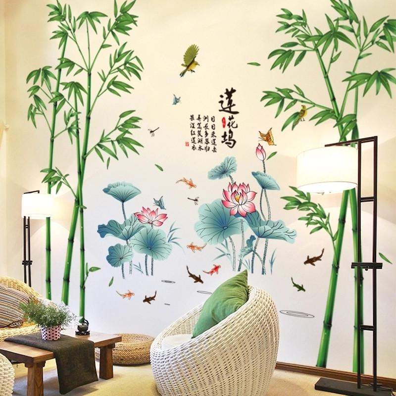 客厅风景画墙贴画壁纸自粘电视背景墙面装饰贴纸墙画卧室贴花壁画