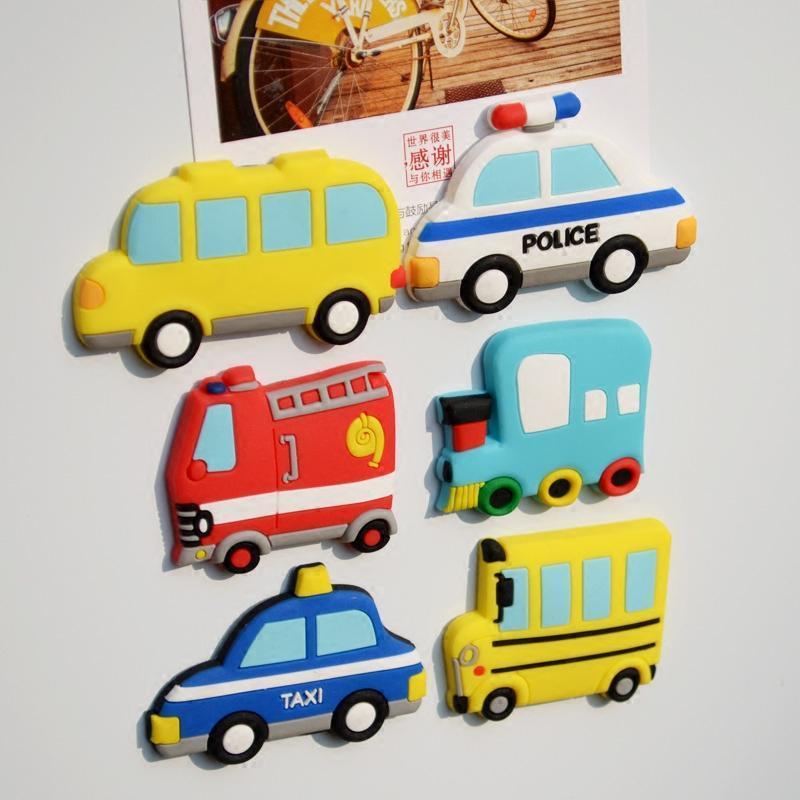 可爱创意冰箱贴磁贴卡通交通工具儿童教学黑板白板早教玩具吸铁石