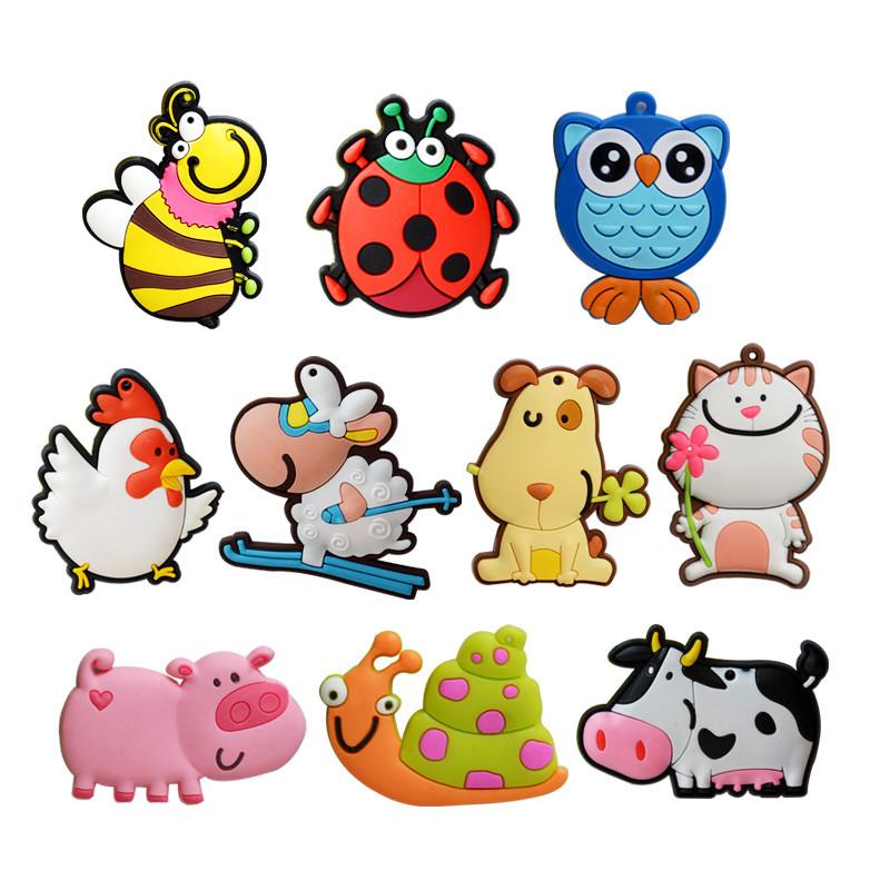 儿童早教创意磁铁冰箱贴卡通可爱黑板立体动物硅胶吸铁石装饰磁贴