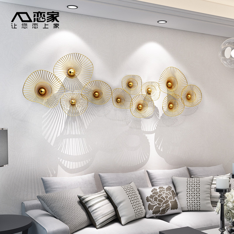 金属壁饰客厅墙面装饰挂件创意墙壁挂饰酒店家居餐厅玄关房间墙饰图片