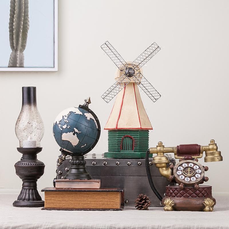 创意美式复古怀旧小摆件客厅电视柜酒柜卧室家居软装饰品桌面摆设图片