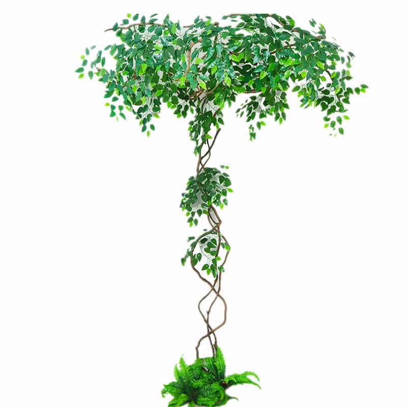 仿真树叶假树枫叶树枝装饰树藤条绿叶植物客厅竹子枯藤藤蔓绿植墙