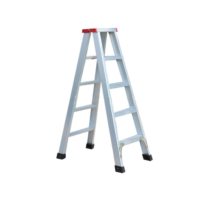 家用梯子四步折叠梯加厚铝合金人字形梯子梯双侧梯阁楼登高梯