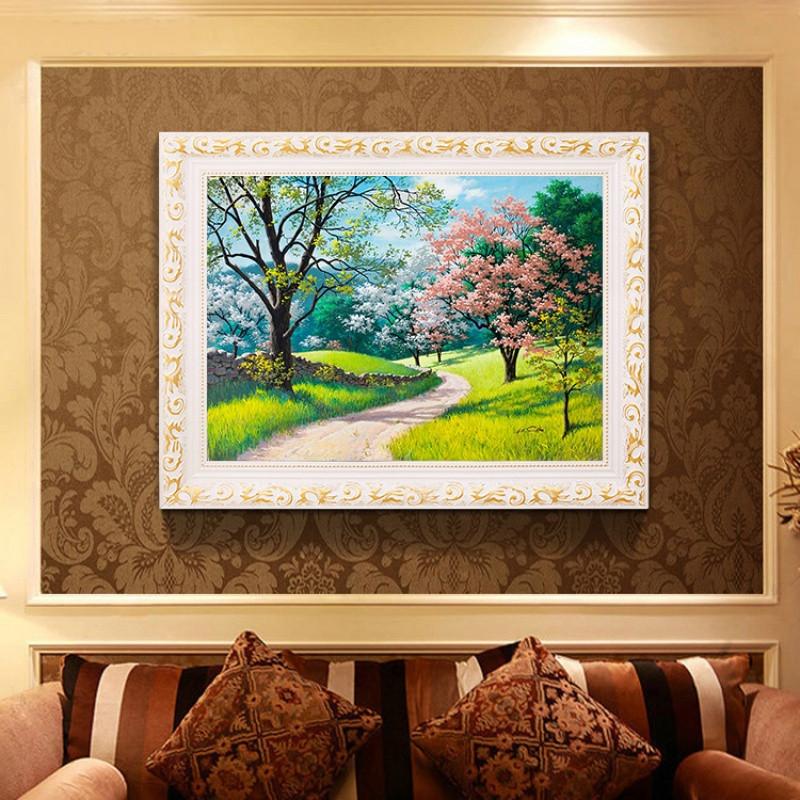 5d鉆石畫滿鉆石繡臥室餐廳小幅貼鉆十字繡客廳風景磚石畫