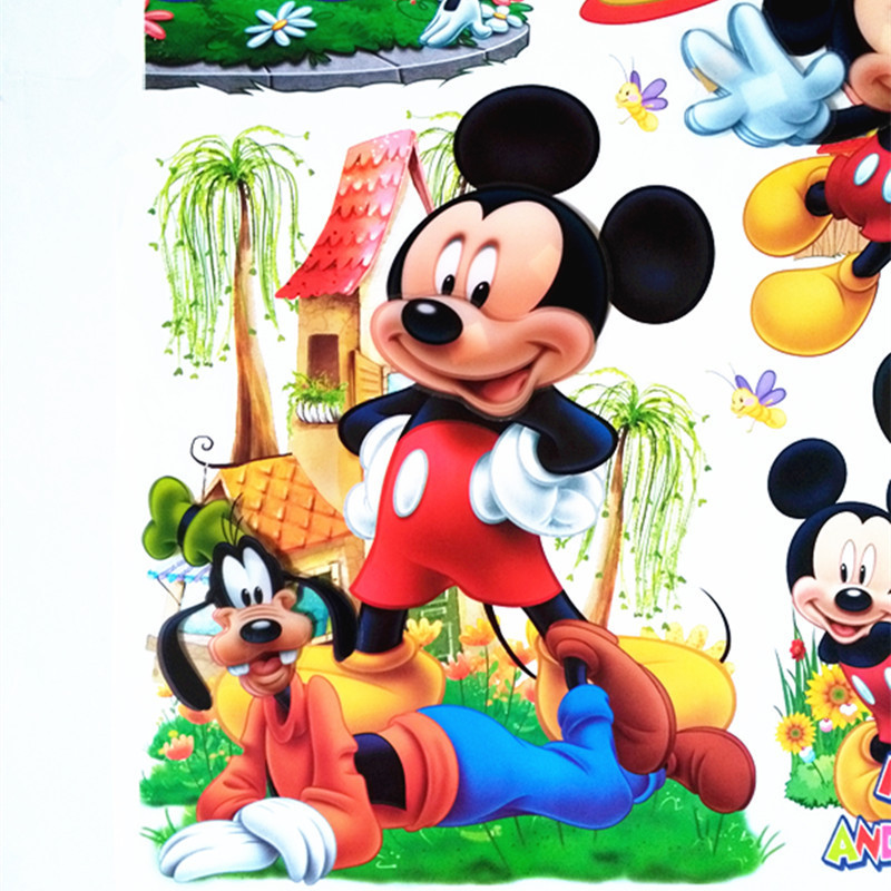儿童房3d立体卡通墙贴画米老鼠卧室幼儿园装饰贴纸