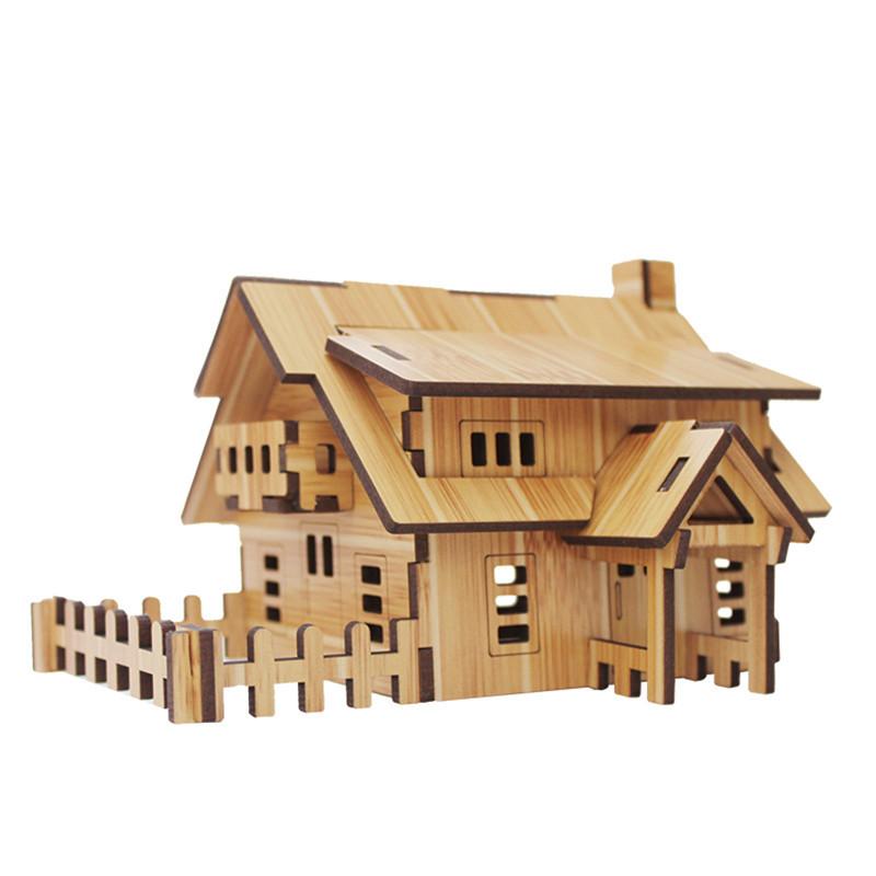 創意diy 家居客廳 木質 微景觀迷你小房子模型 擺件裝飾品