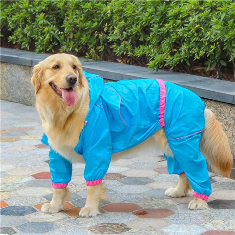 超强防水狗狗雨衣宠物雨衣服四脚中大型犬泰迪金毛边牧宠物用品图片