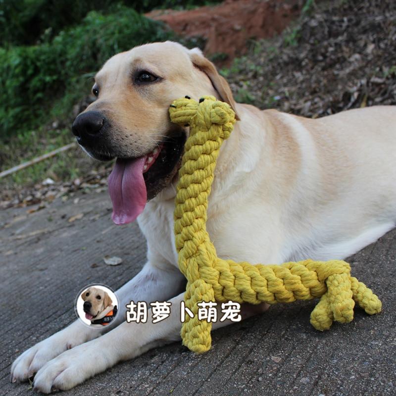 手工编织狗玩具 宠物耐咬大号金毛拉布拉多中大型犬绳结棉绳玩具图片