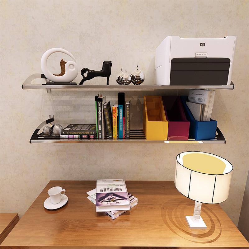 304不锈钢厨房微波炉支架 墙壁层架壁挂 收纳置物架厨房用品图片