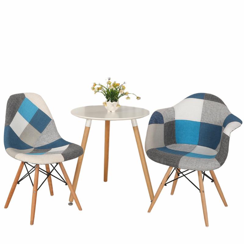 休闲洽谈咖啡桌椅阳台小圆桌椅子组合 一桌两椅二椅2人简约餐桌