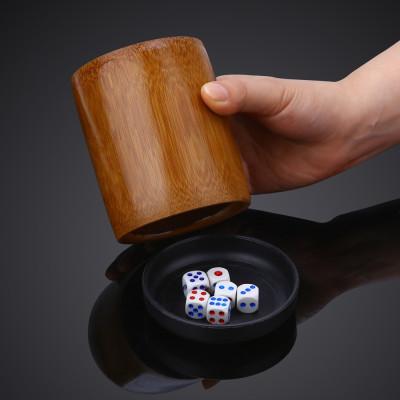 天然竹木筛盅筛筒ktv骰盅酒吧用品摇色子筒色子骰子摇图片