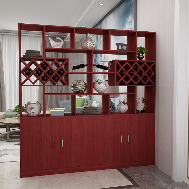 进门玄关柜客厅隔断柜餐厅酒柜现代简约屏风柜装饰柜双面门厅柜