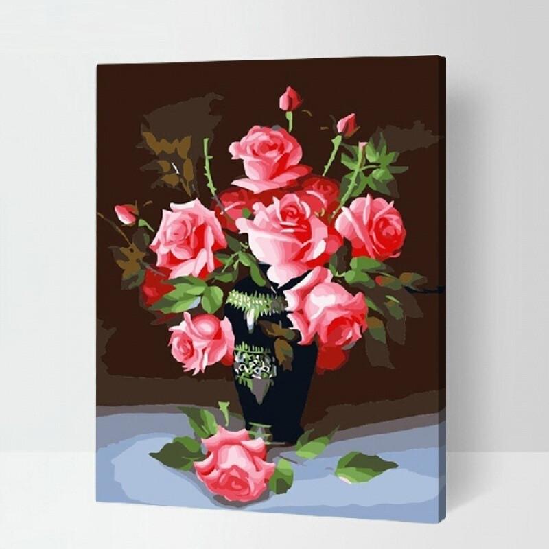 数字油画客厅风景人物动漫涂色手工绘填色油彩装饰画