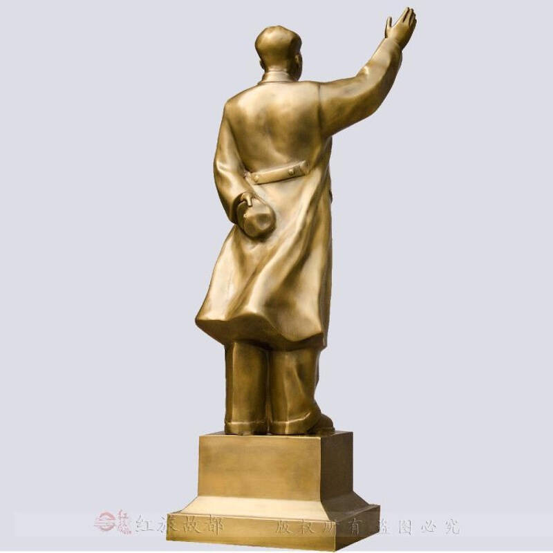 毛主席铜像纯铜挥手现代中式创意全身像雕塑家居风水摆件装饰品73.