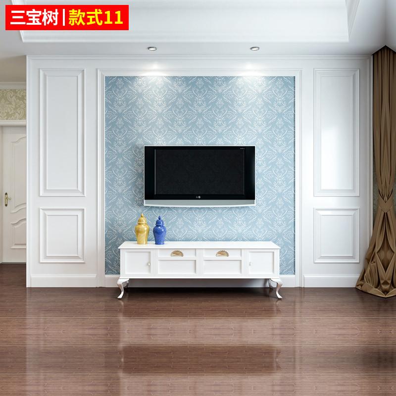 里伍三宝树 实木电视背景墙沙发卧室电视墙边框线条装饰护墙板包安装