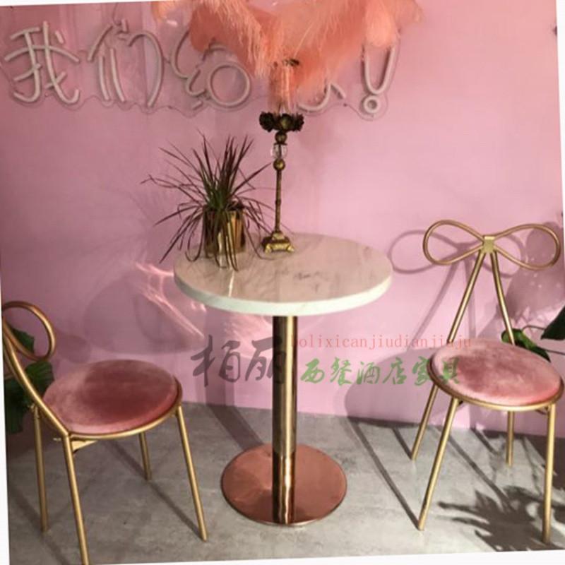 里伍秒杀西餐大理石小圆桌方桌 奶茶 甜品店桌 洽谈桌