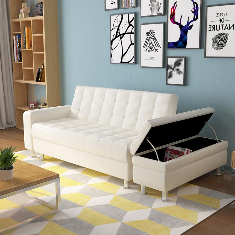里伍简约日式沙发床可折叠客厅沙发床多功能小户型双人皮艺沙发组合图片
