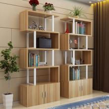 展示柜化妆品展柜货架陈列柜办公书柜客厅隔断简易书架置物架组合图片