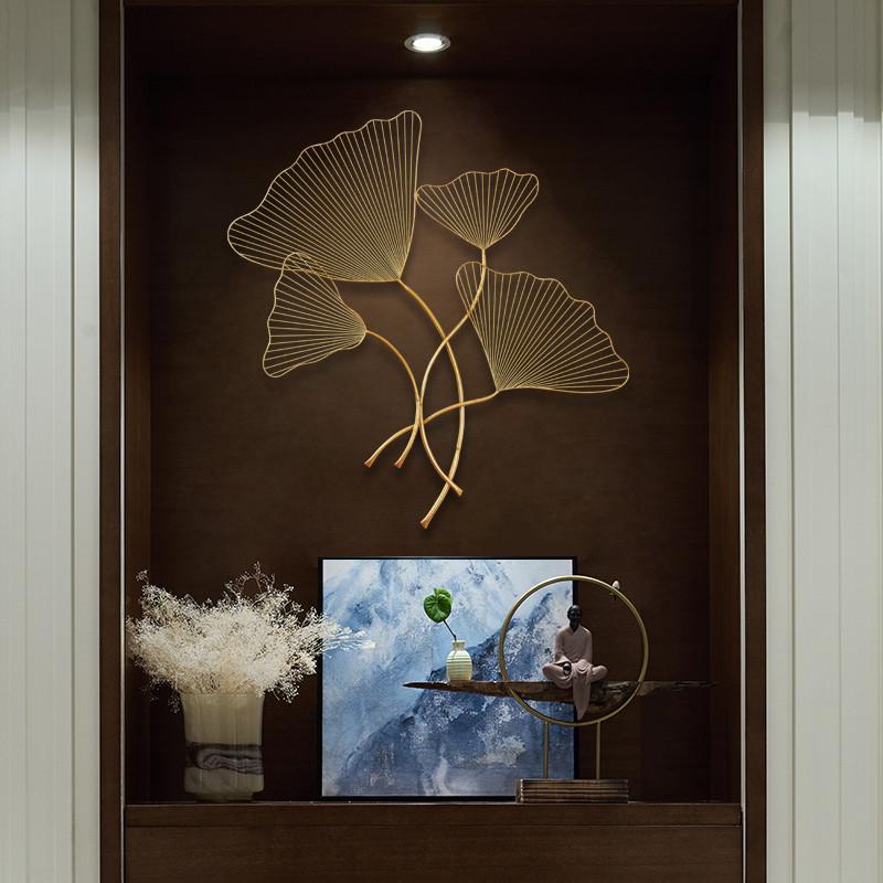 里伍银杏叶墙饰挂饰壁饰沙发墙面装饰品挂件客厅卧室中式家居创意图片