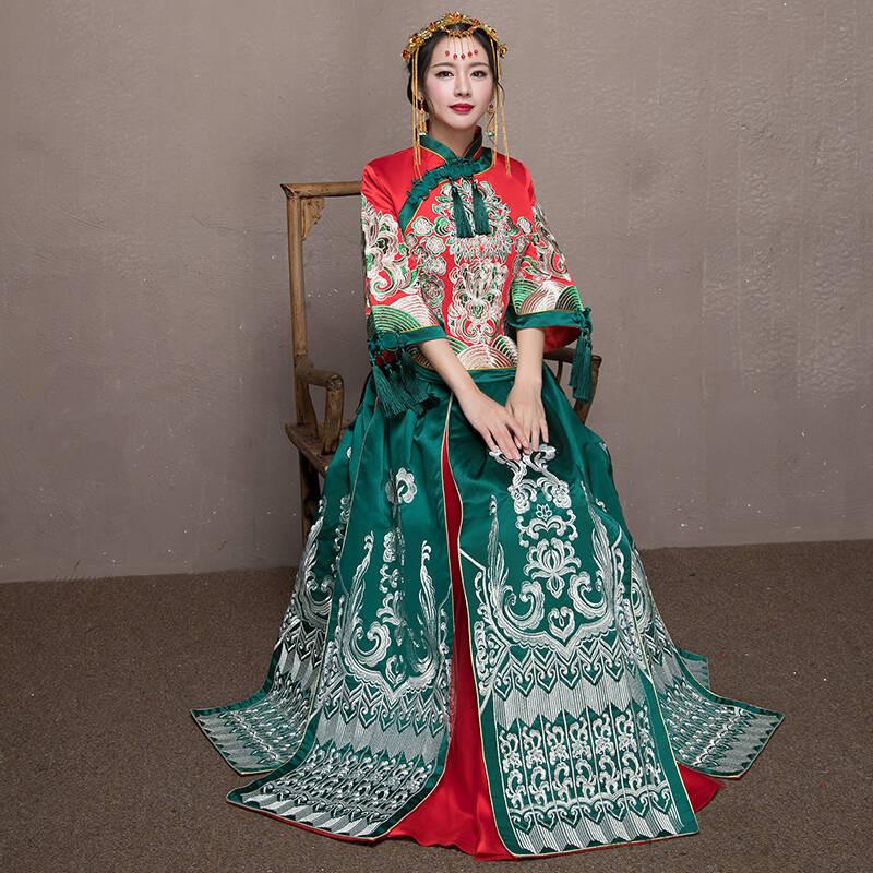 秀禾服新款新娘中式礼服中国风敬酒服结婚礼服女秋季古代婚纱