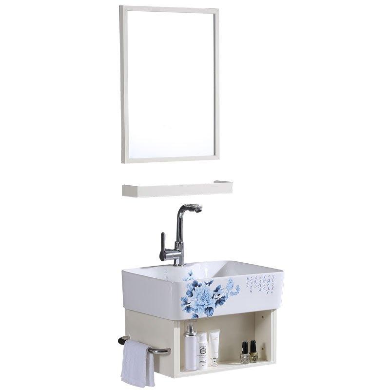 小户型洗脸盆柜组合卫生间浴室柜洗漱台迷你阳台挂墙式陶瓷洗手盆